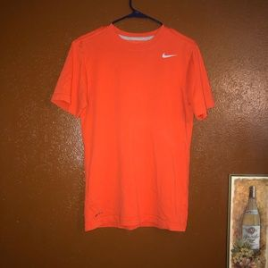 Nike Dri Fit Size Small Orange Shirt